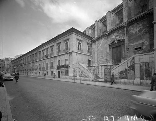 Hospital de Santa Marta, fachada principal, antigo