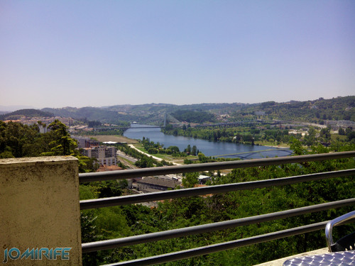 Vista do Rio Mondego e Ponte Rainha Santa Isabel do Instituto Universitário Justiça e Paz em Coimbra [en] View the Mondego River and Bridge and Queen Saint Isabel from the University Institute of Justice and Peace in Coimbra Portugal