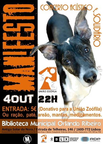 MANIFESTO - 4 Out - Concerto Solidário - Dia Mundial do Animal [