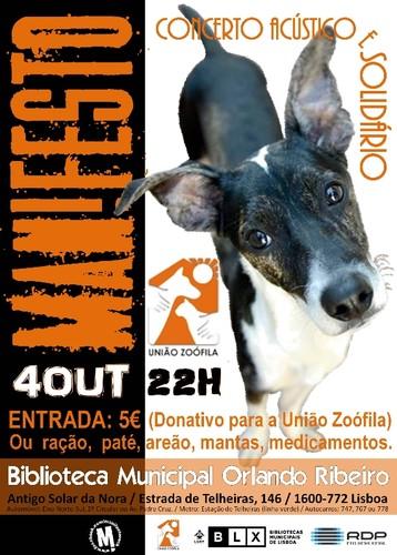 MANIFESTO - 4 Out - Concerto Solidário - Dia Mundial do Animal [