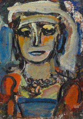 Femme au corsage bleu, de Rouault..JPG