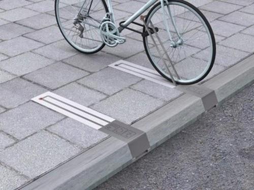 Estacionamento para bicicletas que não ocupa espa