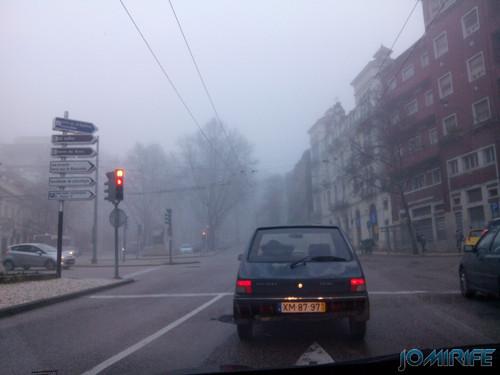 Nevoeiro na Avenida Sá da Bandeira em Coimbra [en] Fog on Avenue Sá da Bandeira in Coimbra, Portugal