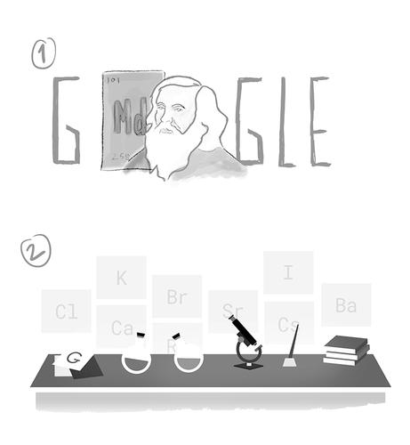 Dmitri Mendeleev - Doodle I