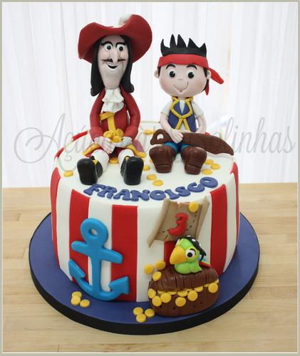 Bolo Jake e os piratas - Ac?car as Bolinhas - Cake Design ...