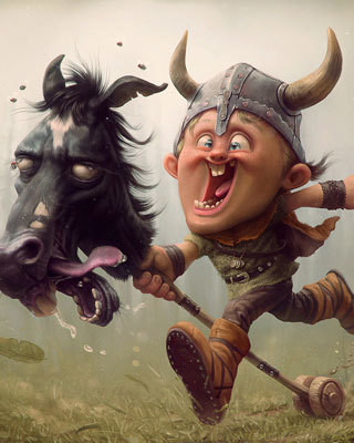funny-viking-boy-art-best-friends-forever-preview.