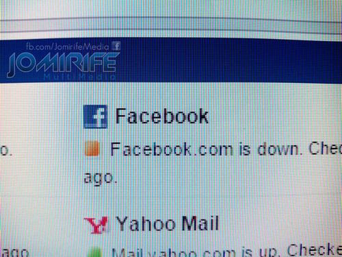 Facebook está em baixo offline [en] Facebook is down offline