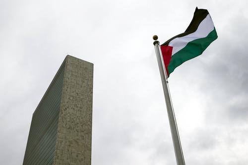 Bandeira palestina hasteada na ONU.jpe