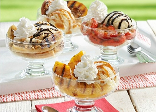 3686968-Grilled-Fruit-Ice-Cream-Sundaes-Photo-by-R
