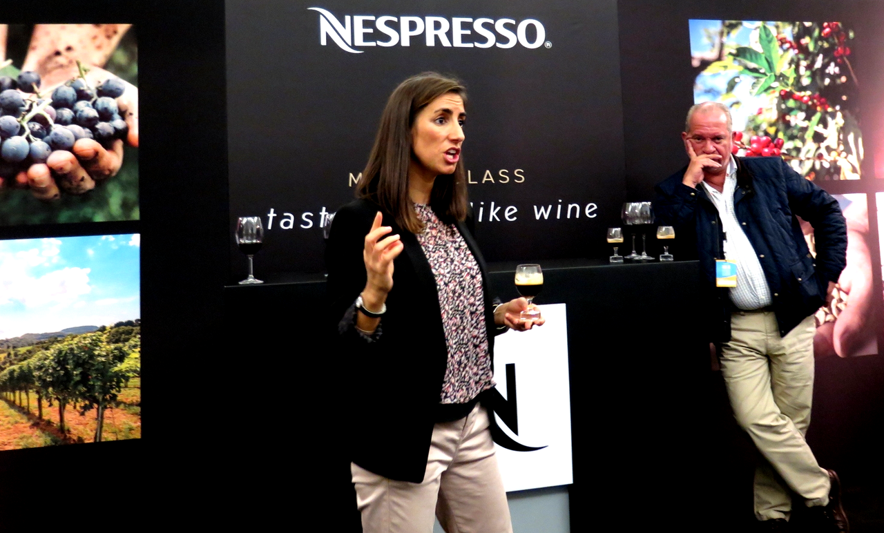 Marta Mimoso (Coffee Ambassador Nespresso) e Domingos Soares Franco (José Maria da Fonseca)