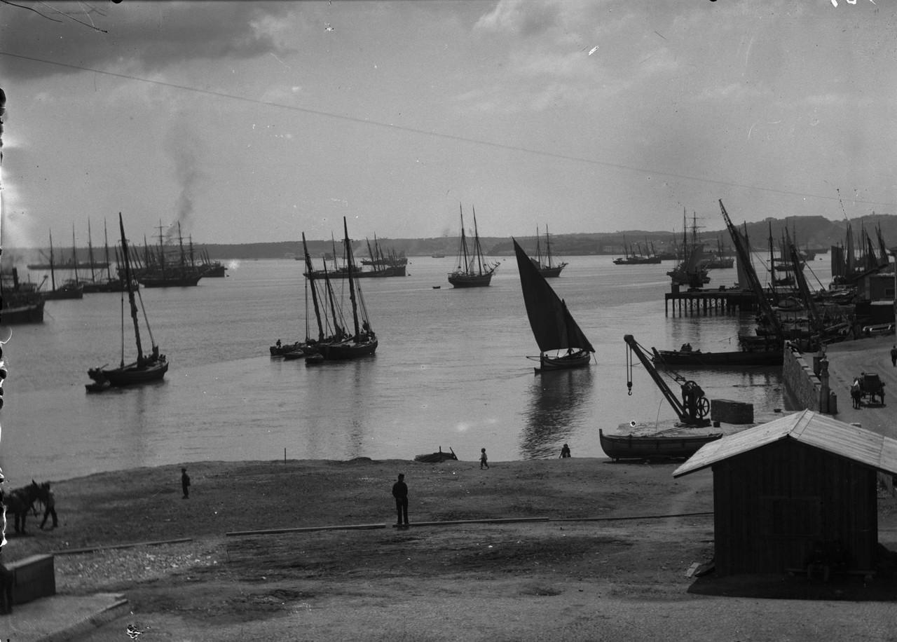 Rio Tejo visto da chamada praia dos Algarves, 1898