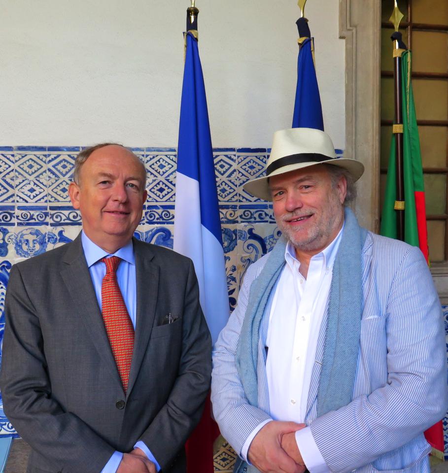 Embaixador de França em Portugal, Jean-François Blarel… e Hunter Halder, fundador da associação Re-Food