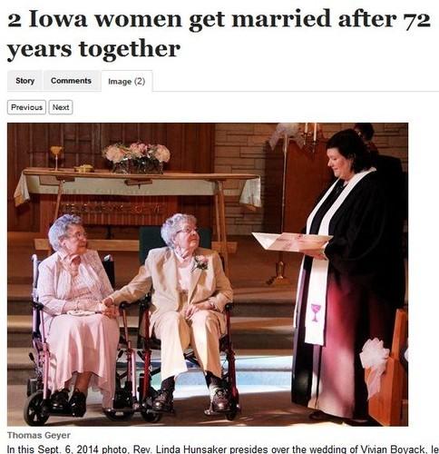 Mulheres casam-se ao fim de 72 anos de namoro.jpeg