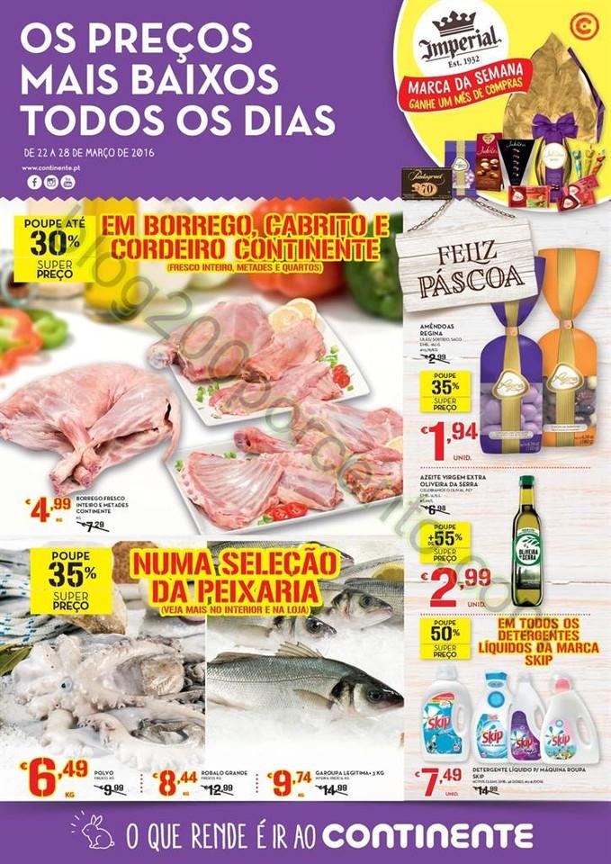 Antevisão Folheto CONTINENTE Promoções de 22 a