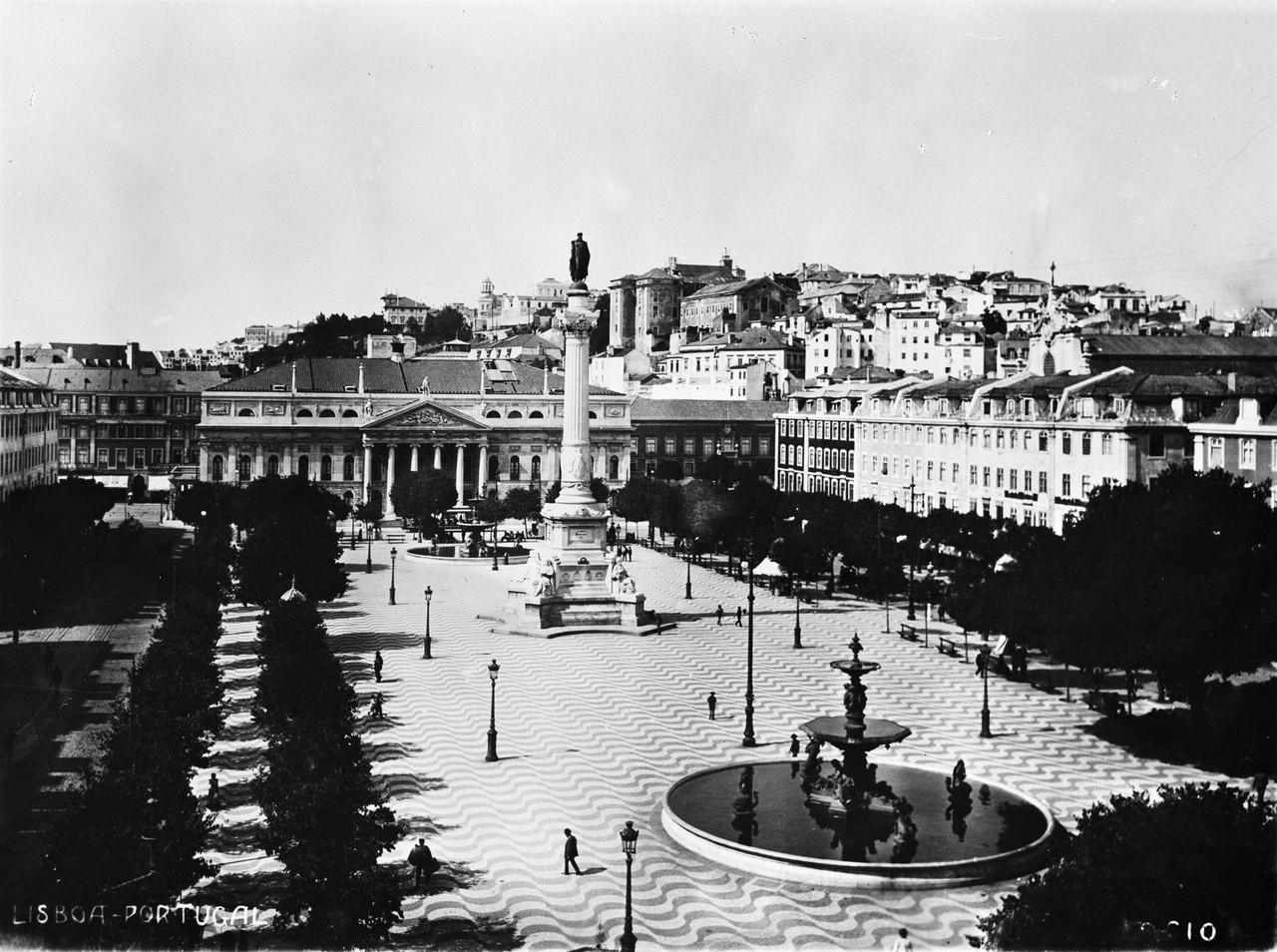 Rossio, anterior a 1919, foto de Manuel Tavares.jp