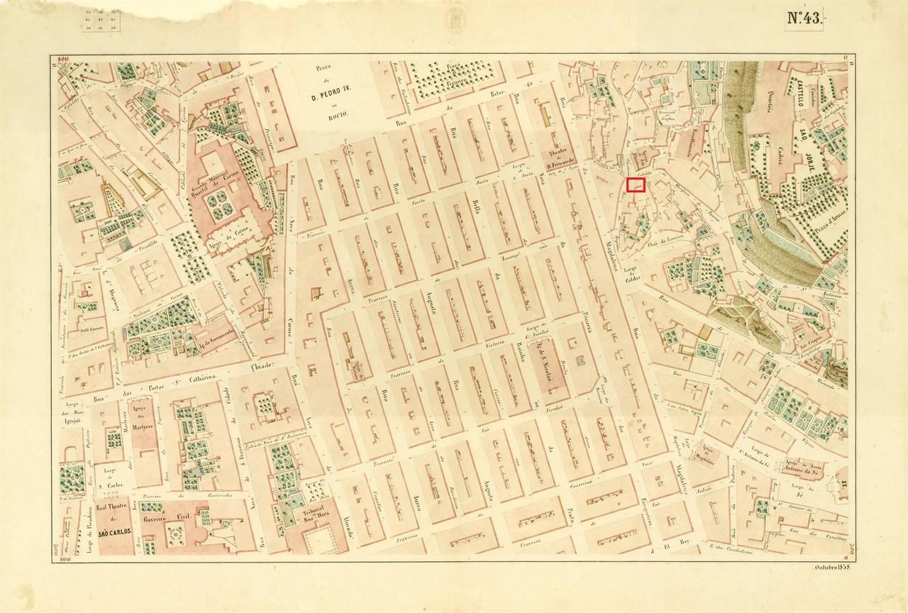 Atlas da carta topográfica de Lisboa, Nº 43, de