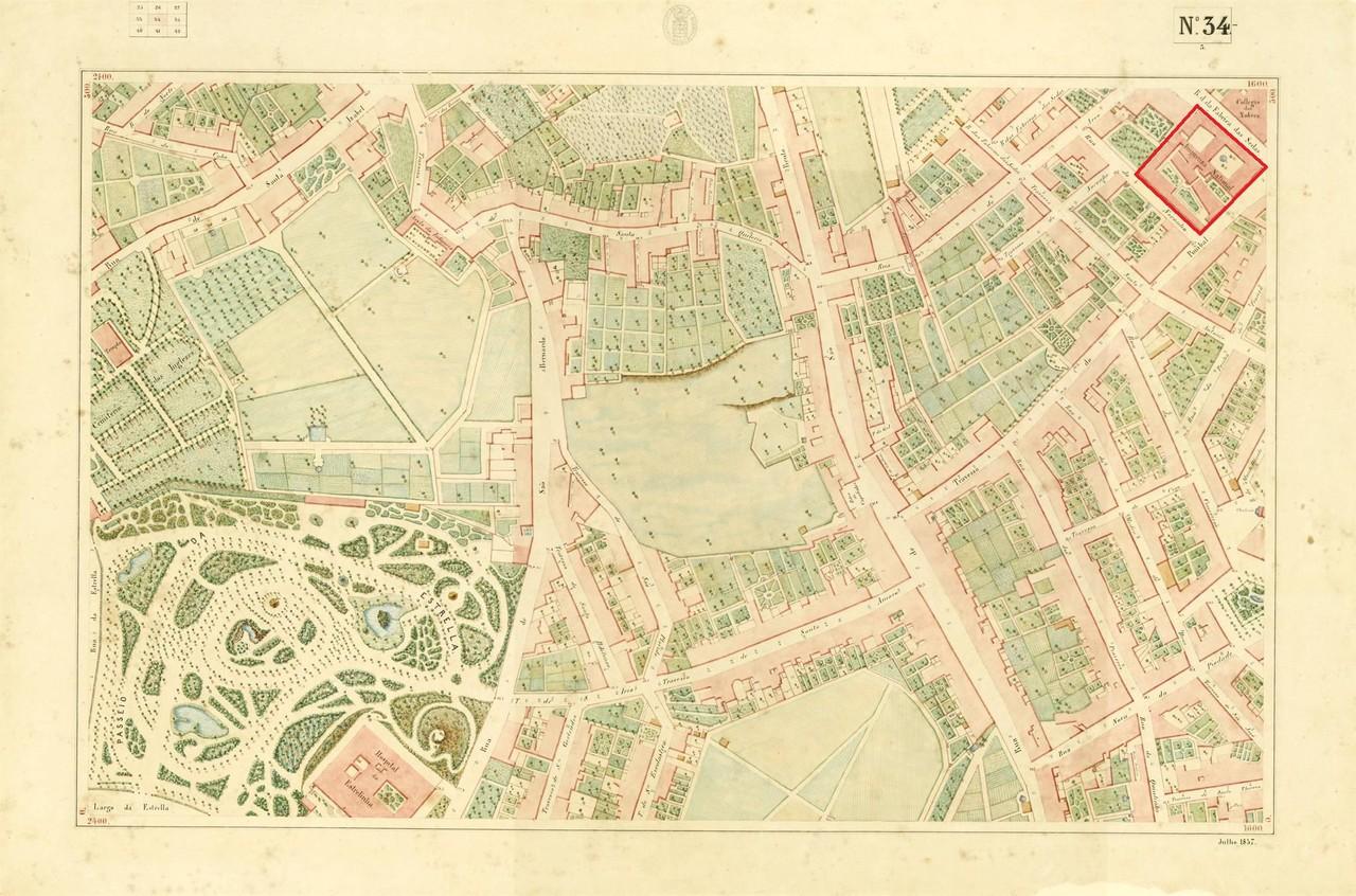 Atlas da carta topográfica de Lisboa nº 34, de F