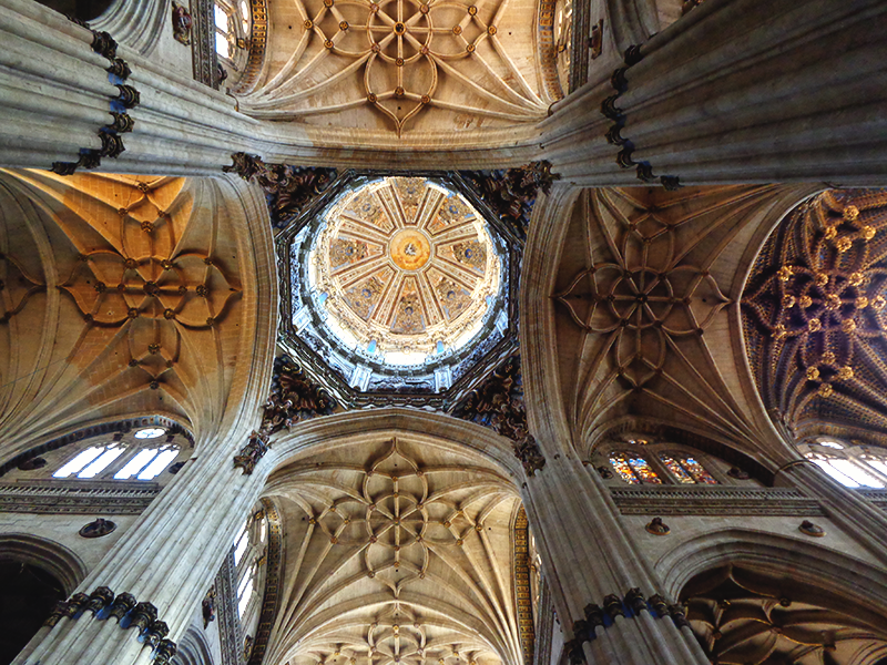 detalhes da Catedral Nova de Salamanca