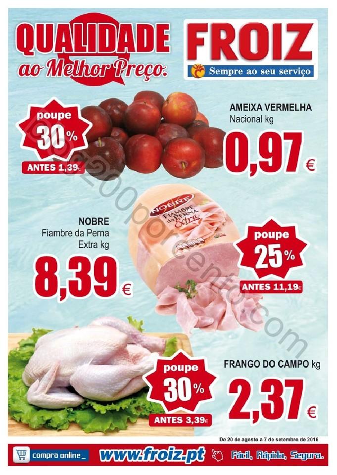 Novo Folheto FROIZ Promoções até 7 setembro p1.