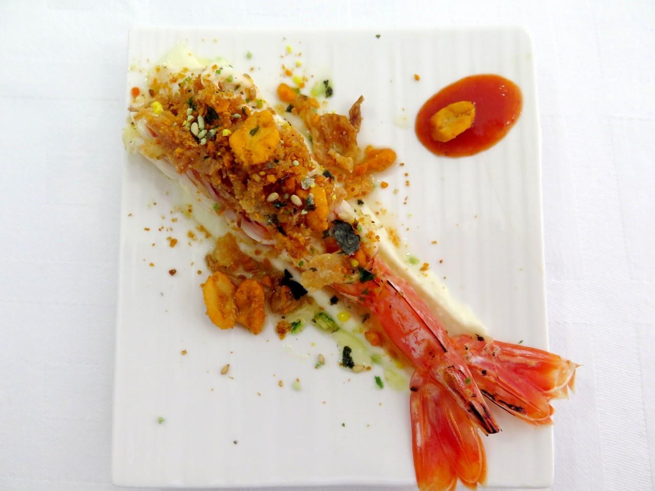 Kinilaw de camarão