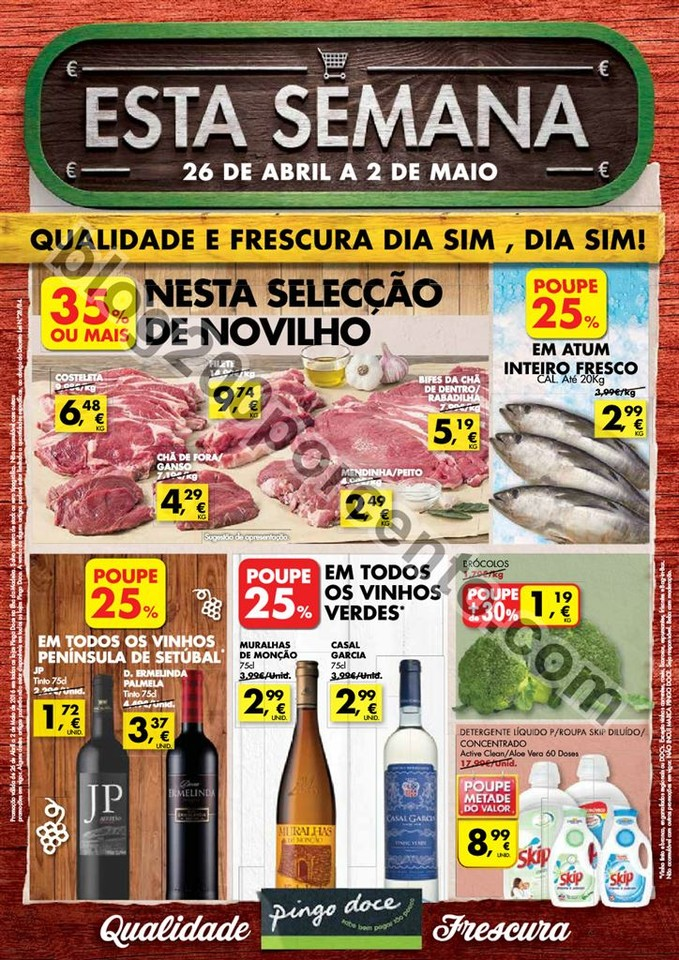 Novo Folheto PINGO DOCE Madeira promoções de 26