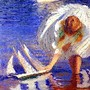 Edmund Charles Tarbell - Girl with Sailboat