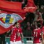 Mitroglou celebra um golo frente ao Arouca