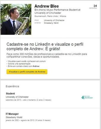 Linkedin profile Andrew Bleek ex-IT Manager Strawb
