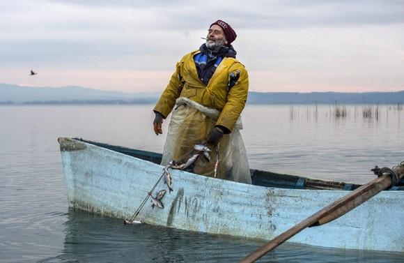 Pesca no lago Dojran, Macedónia