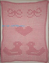 Patinhos rosa em croché
