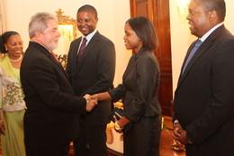 Lula da Silva em Moçambique