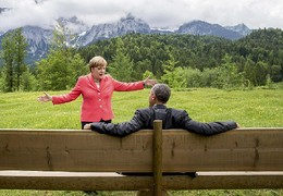 Angela Merkel e Barack Obama, Kruen, Alemanha