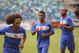 Cabo Verde: Treino no Moses Mabida