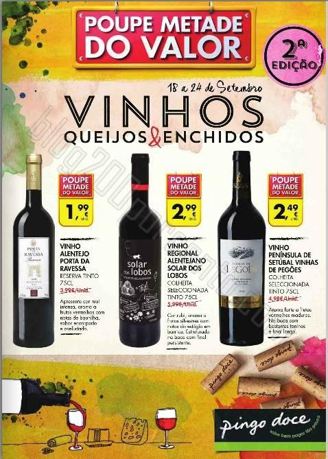 Novo Folheto PINGO DOCE Vinhos, queijos e enchidos 18 a 24 setembro