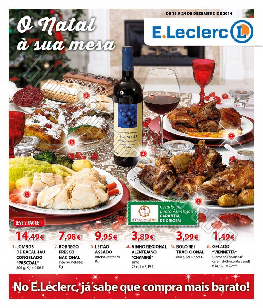 Antevisão Folheto E-LECLERC Natal de 16 a 24 deze
