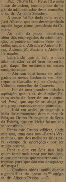 Dr arnaldo -Gazeta de Coimbra, 20 de Março de 191