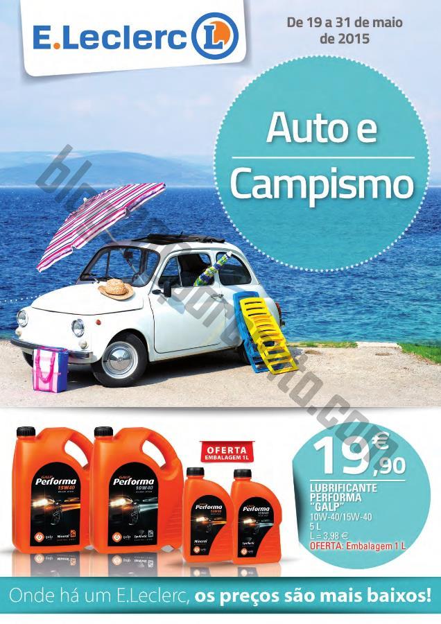 Antevisão Folheto E-LECLERC Auto e Campismo de 19
