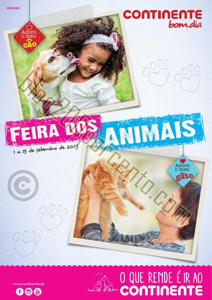 Antevisão Folheto CONTINENTE Feira dos animais de