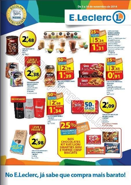Novo Folheto E-LECLERC Nestlé promoções até 16 novembro
