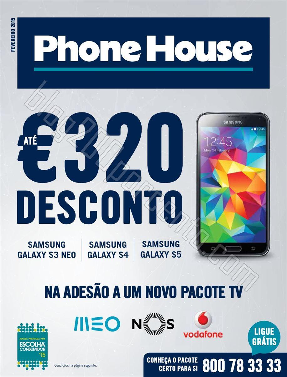 Antevisão Folheto PHONE HOUSE promoções de feve