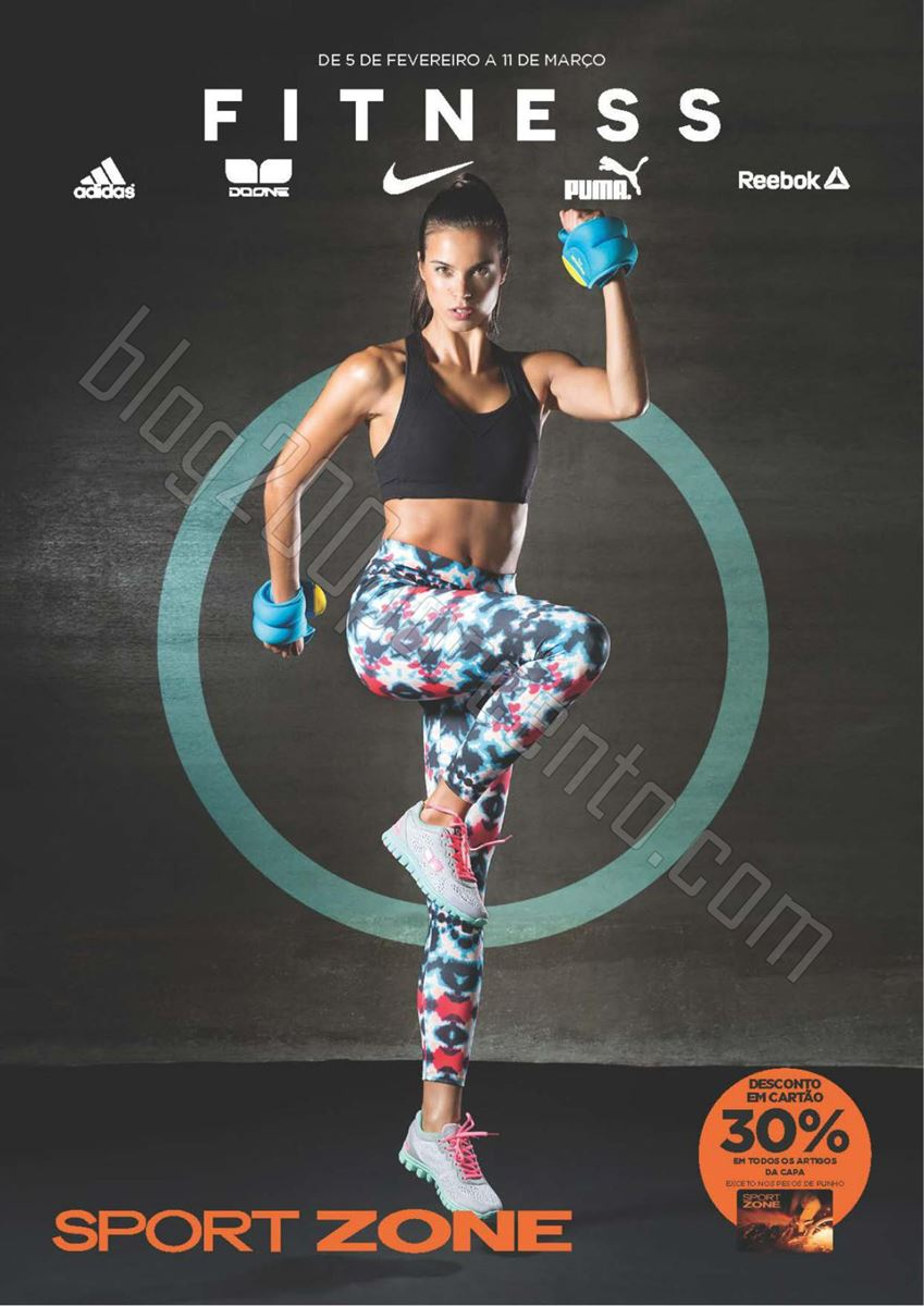 Novo Folheto SPORT ZONE Fitness de 5 fevereiro a 1