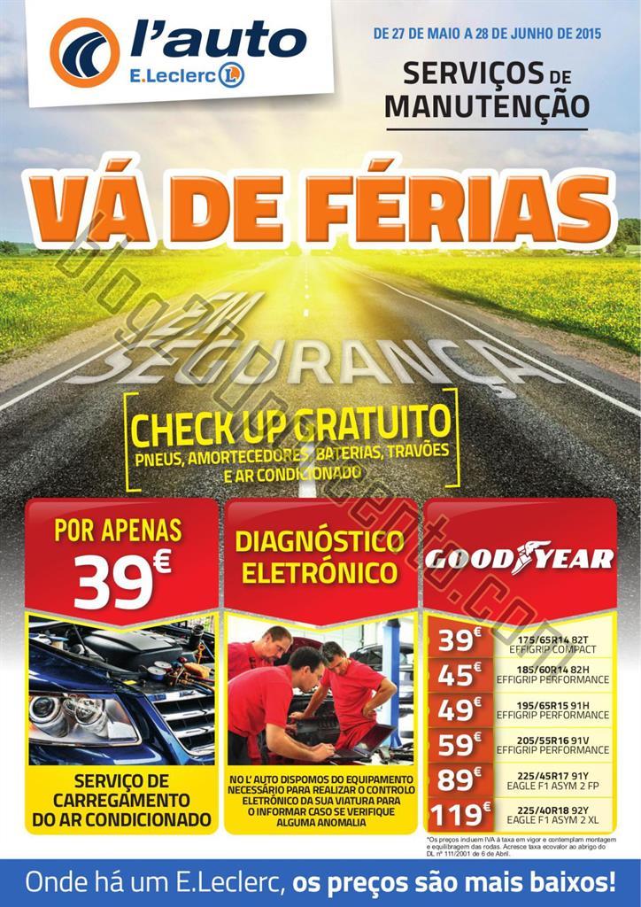 Novo Folheto E-LECLERC Auto de 27 maio a 28 junho