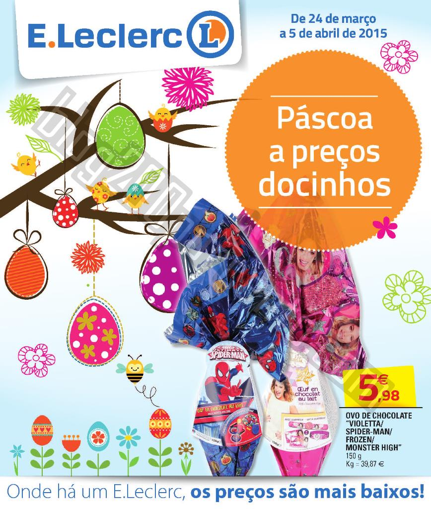 Antevisão Folheto E-LECLERC Páscoa de 24 março